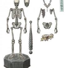 【KT Project】 KT-005 タケヤ式自在置物/骸骨(がいこつ) 鉄錆地調kt_15_