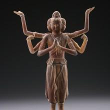阿修羅像(木調)