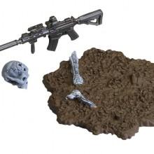 HK416D アサルトライフル B タイプ + 弾痕ヘッド