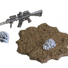 HK416Dアサルトライフル C タイプ + 刀傷ヘッド