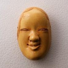 小面(こおもて)【木彫風彩色】