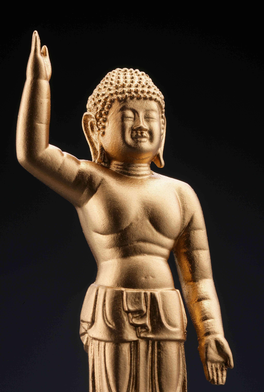 誕生釈迦仏(金)