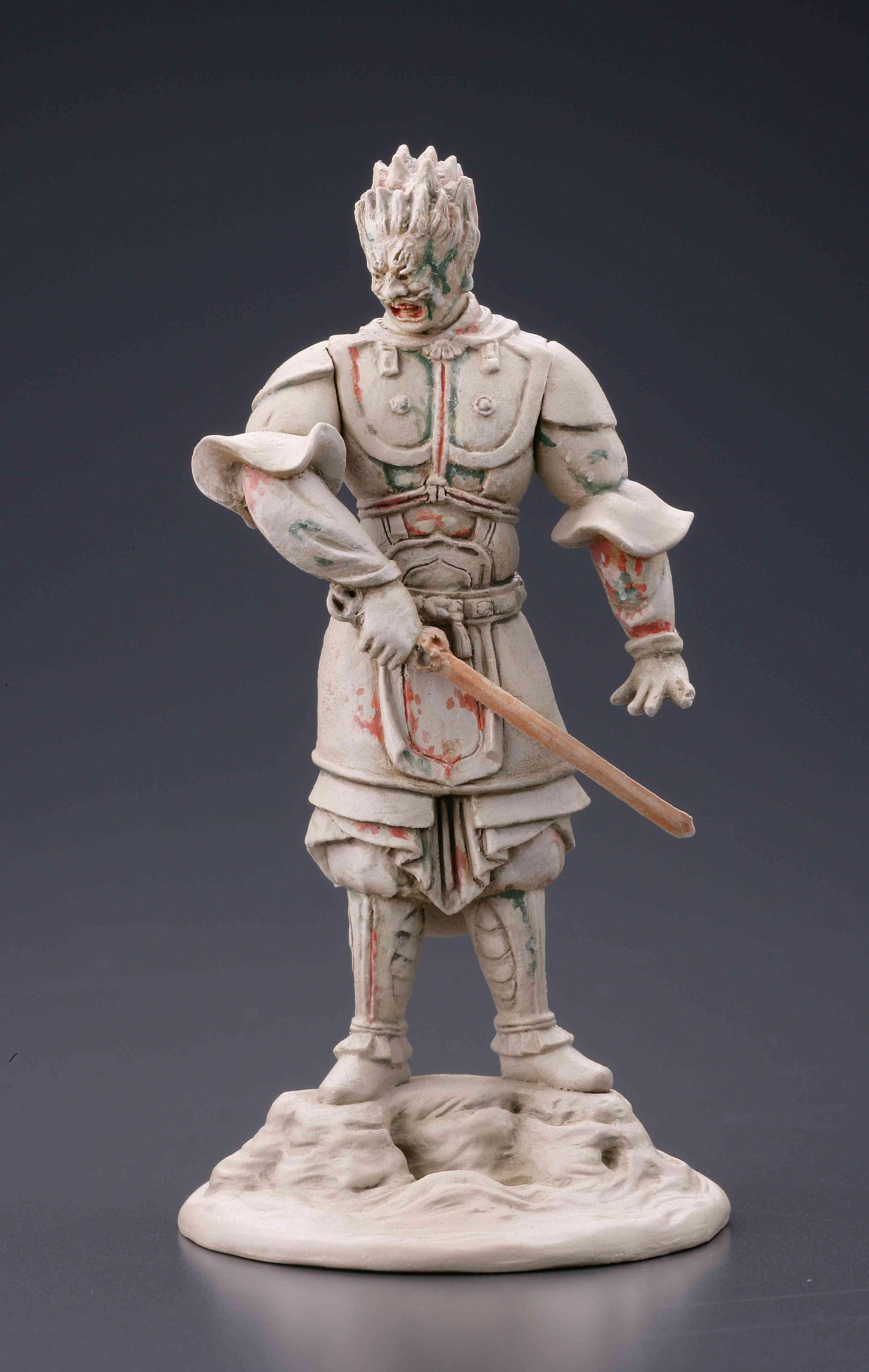 伐折羅大将(経年劣化)