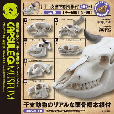 ホネコレ!十二支動物頭骨根付 上巻【子~巳編】