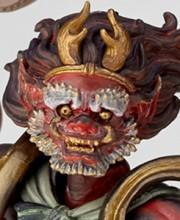 タケヤ式自在置物 雷神 赤