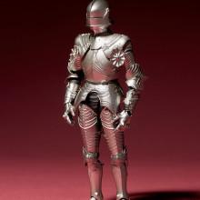 15世紀ゴチック式フィールドアーマー シルバー