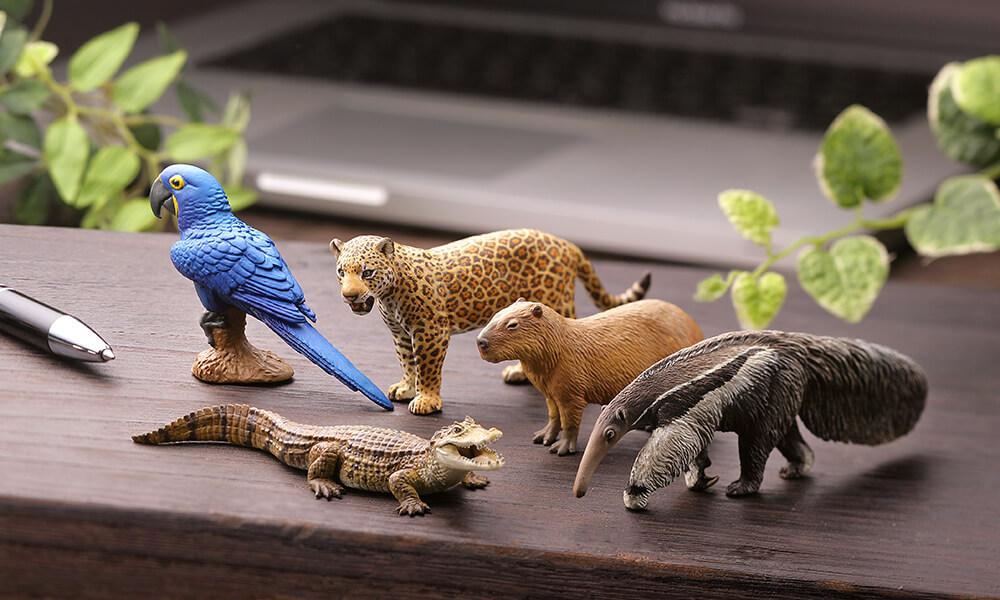 KAIYODO / 盒玩 / WILD RUSH系列 / 真・世界動物誌Ⅱ / 第二彈 / 南美洲·亞馬遜篇 / 全5種 / 一中盒12入販售