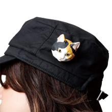 帽子にも!