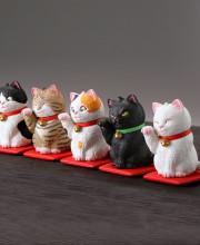miniQ 佐藤邦雄の招福猫 全5種/1個400円