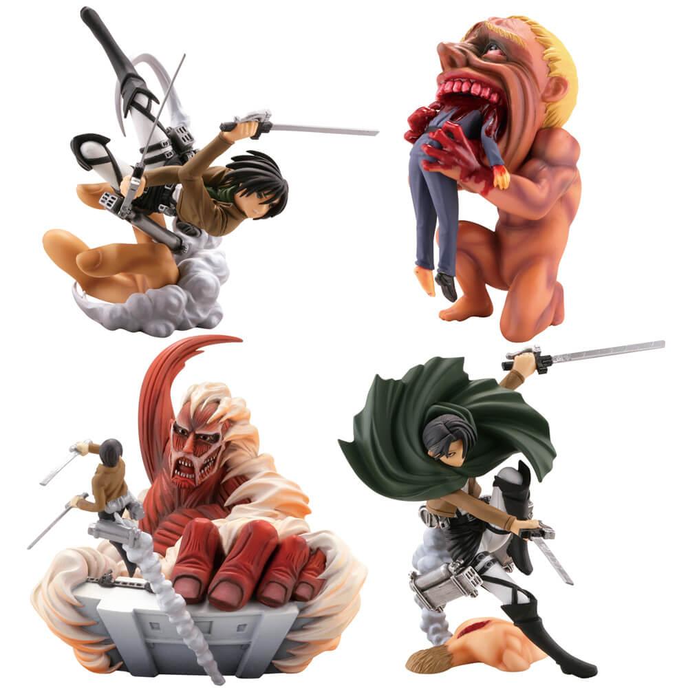 miniQ 進撃の巨人 「絶望と反攻」のヴィネットセレクション 全4種/1個 ...