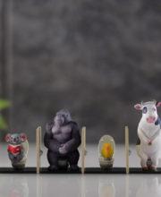 miniQ 佐藤邦雄の動物たち「トイレの時間2」 全4種/1個400円